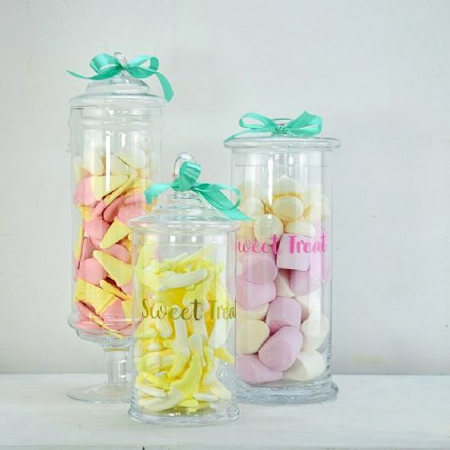 Sweet Treat Set of 3 Glass Jars